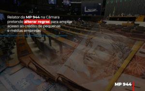 Relator Da Mp 944 Na Camara Pretende Alterar Regras Para Ampliar Acesso Ao Credito De Pequenas E Medias Empresas - Contabilidade em Itaperuçu- Ribas Contabilidade