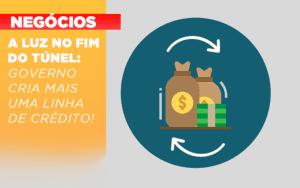 A Luz No Fim Do Tunel Governo Cria Mais Uma Linha De Credito - Contabilidade em Itaperuçu- Ribas Contabilidade