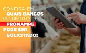Confira Em Quais Bancos O Credito Pronampe Ja Pode Ser Solicitado - Contabilidade em Itaperuçu- Ribas Contabilidade